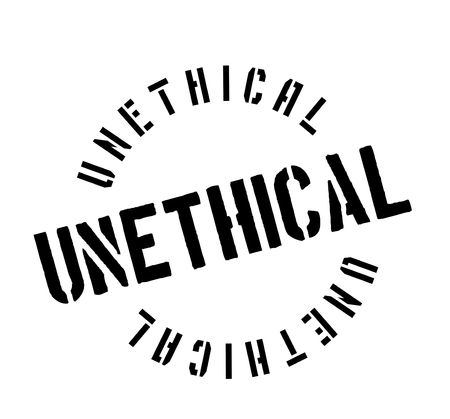 Unethical rubber stamp. Grunge design with dust scratches. Effects can be easily removed for a clean, crisp look. Color is easily changed.
