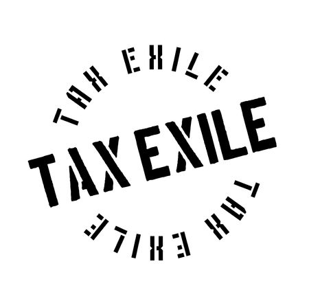 Tax Exile rubber stamp. Grunge design with dust scratches. Effects can be easily removed for a clean, crisp look. Color is easily changed.  イラスト・ベクター素材