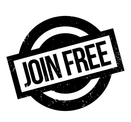 Join Free rubber stamp. Grunge design with dust scratches.