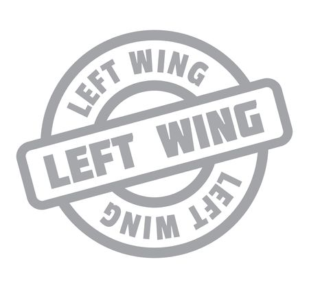 Left Wing rubber stamp. Grunge design with dust scratches. Illustration