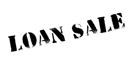 Loan Sale rubber stamp. Grunge design with dust scratches. Illustration