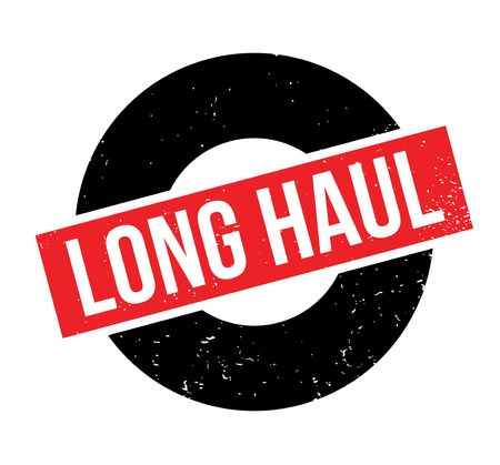 Long Haul rubber stamp. Grunge design with dust scratches.