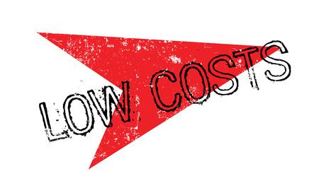 Low Costs rubber stamp. Grunge design with dust scratches. Illusztráció