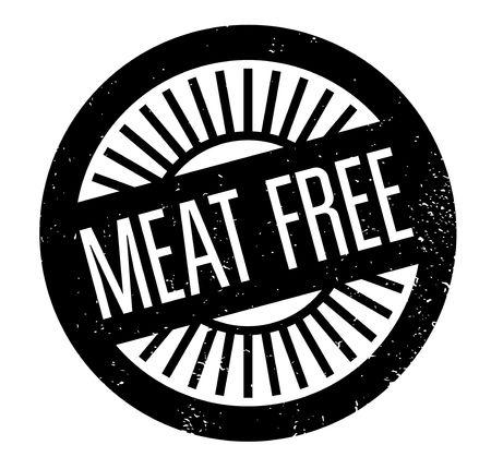 Meat Free Stempel . Grunge-Design mit Staub Kratzer . Effekte können für ein sauberes Aussehen leicht entfernt werden . Die Farbe ist leicht geändert