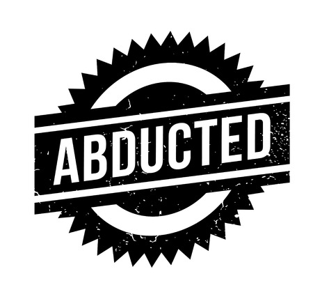 Abducted rubber stamp. Grunge design with dust scratches.  Vector illustration. Stock Illustratie