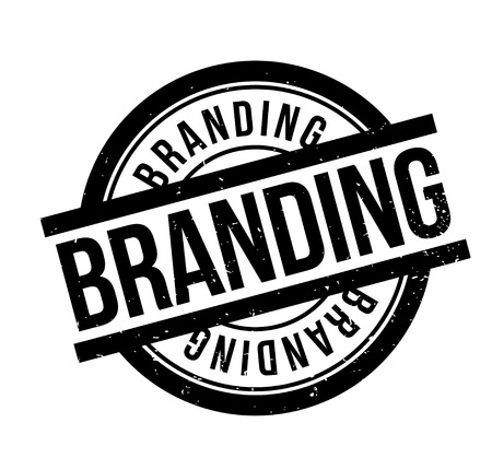 Branding rubber stamp. Grunge design with dust scratches. Vector illustration.