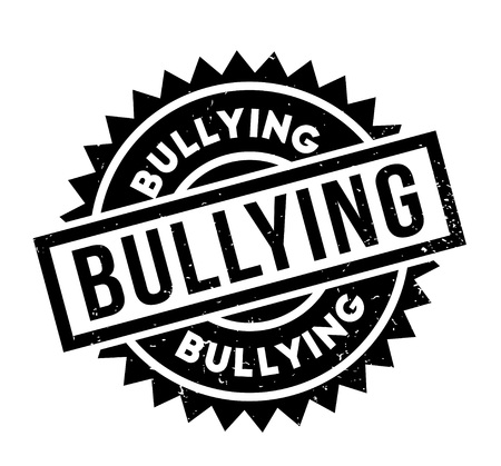 Bullying rubber stamp. Grunge design with dust scratches. Illustration