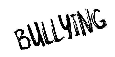 Bullying rubber stamp. Grunge design with dust scratches. Vector illustration.
