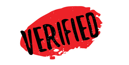 Verified rubber stamp. Grunge design with dust scratches. Vector illustration.