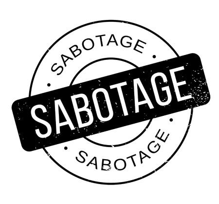 Sabotage rubber stamp. Grunge design with dust scratches.