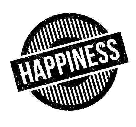 Sello de goma de la felicidad Diseño de grunge con arañazos de polvo. Los efectos se pueden eliminar fácilmente para una apariencia limpia y nítida. El color se cambia fácilmente. Ilustración de vector