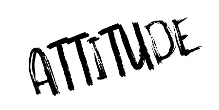 Attitude rubber stamp. Grunge design with dust scratches.