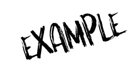 Example rubber stamp. Grunge design with dust scratches. Vector illustration.