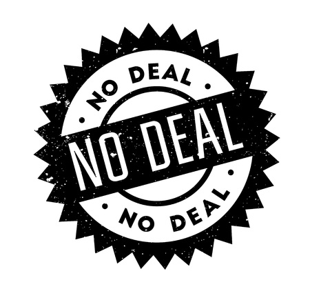 No Deal rubber stamp. Grunge design with dust scratches. Effects can be easily removed for a clean, crisp look. Color is easily changed.