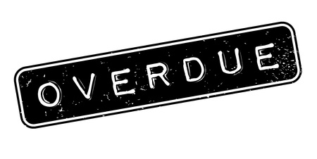 Overdue rubber stamp. Grunge design with dust scratches. Effects can be easily removed for a clean, crisp look. Color is easily changed.