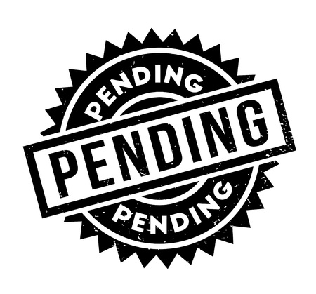 Pending rubber stamp. Grunge design with dust scratches. Effects can be easily removed for a clean, crisp look. Color is easily changed.