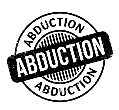 Abduction rubber stamp. Grunge design with dust scratches.
