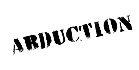 Abduction rubber stamp. Grunge design with dust scratches. Effects can be easily removed for a clean, crisp look. Color is easily changed.