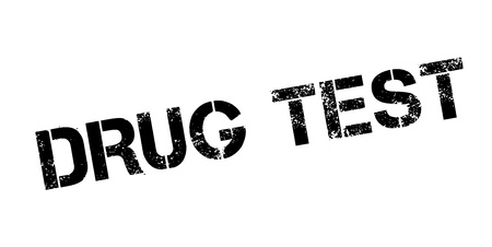 Drug Test rubber stamp. Grunge design with dust scratches.