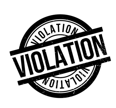 Violation rubber stamp. Grunge design with dust scratches. Effects can be easily removed for a clean, crisp look. Color is easily changed. Stock Vector - 95606281