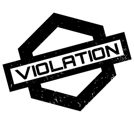 Violation rubber stamp. Grunge design with dust scratches. Effects can be easily removed for a clean, crisp look. Color is easily changed. Vectores