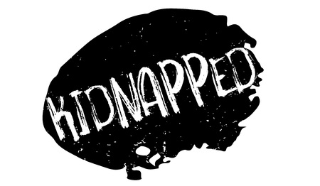 Kidnapped rubber stamp. Grunge design with dust scratches. Effects can be easily removed for a clean, crisp look. Color is easily changed. Illustration