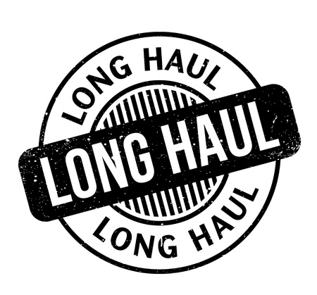 Long Haul rubber stamp. Grunge design with dust scratches. Effects can be easily removed for a clean, crisp look. Color is easily changed. Иллюстрация