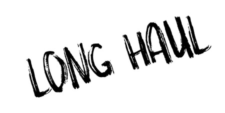 Long Haul rubber stamp. Grunge design with dust scratches. Effects can be easily removed for a clean, crisp look. Color is easily changed. Illustration