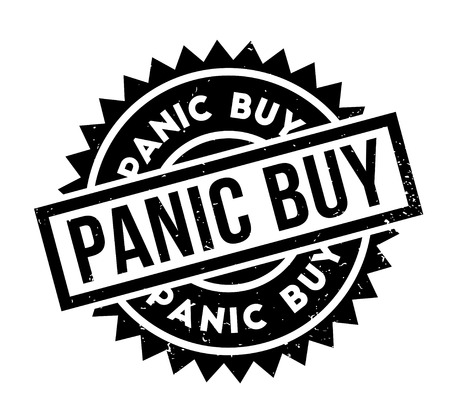 Panic Buy rubber stamp. Grunge design with dust scratches. Effects can be easily removed for a clean, crisp look. Color is easily changed. Çizim