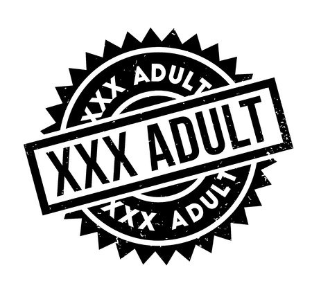 XXX Adult rubber stamp. Grunge design with dust scratches. Effects can be easily removed for a clean, crisp look. Color is easily changed. Vektoros illusztráció