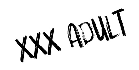 XXX Adult rubber stamp. Grunge design with dust scratches. Effects can be easily removed for a clean, crisp look. Color is easily changed.