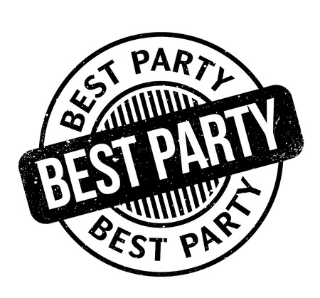 Best Party rubber stamp. Grunge design with dust scratches. Effects can be easily removed for a clean, crisp look. Color is easily changed.