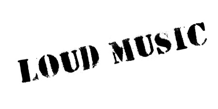 Loud Music rubber stamp. Grunge design with dust scratches. Effects can be easily removed for a clean, crisp look. Color is easily changed. Ilustração