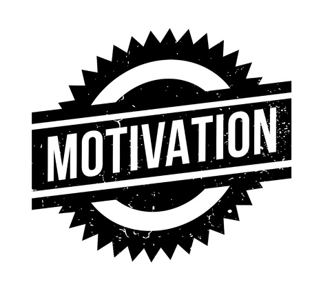 Motivation rubber stamp. Grunge design with dust scratches.
