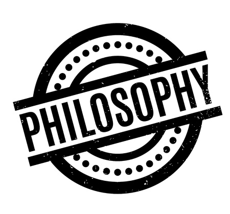 Philosophy rubber stamp. Grunge design with dust scratches.