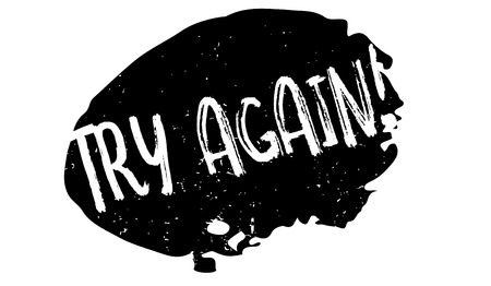 Try Again rubber stamp. Grunge design with dust scratches. Stock Illustratie