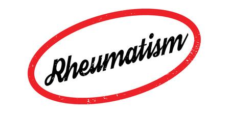 Rheumatism rubber stamp. Grunge design with dust scratches. Illustration