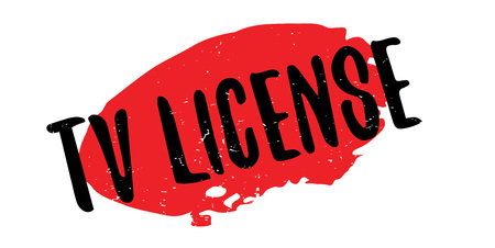 TV License rubber stamp. Grunge design with dust scratches. Stock Vector - 95643860
