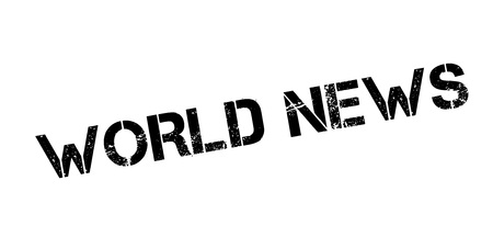 World News rubber stamp. Grunge design with dust scratches.