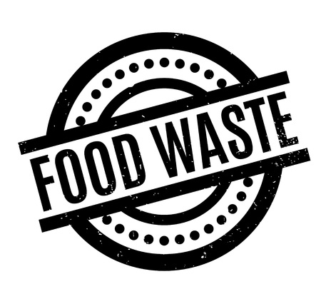 Food Waste rubber stamp. Grunge design with dust scratches. Effects can be easily removed for a clean, crisp look. Color is easily changed.