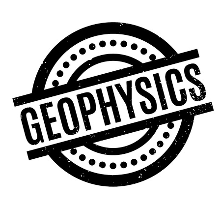 Geophysics rubber stamp. Grunge design with dust scratches. Effects can be easily removed for a clean, crisp look. Color is easily changed.
