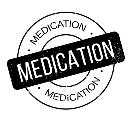 Medication rubber stamp. Grunge design with dust scratches. Effects can be easily removed for a clean, crisp look. Stock Illustratie