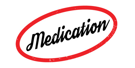 Medication rubber stamp. Grunge design with dust scratches. Effects can be easily removed for a clean, crisp look. Illustration