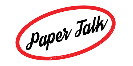 Paper Talk rubber stamp. Grunge design with dust scratches. Effects can be easily removed for a clean, crisp look. Stock Illustratie