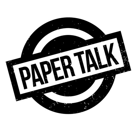 Paper Talk rubber stamp. Grunge design with dust scratches. Effects can be easily removed for a clean. Zdjęcie Seryjne - 95641383