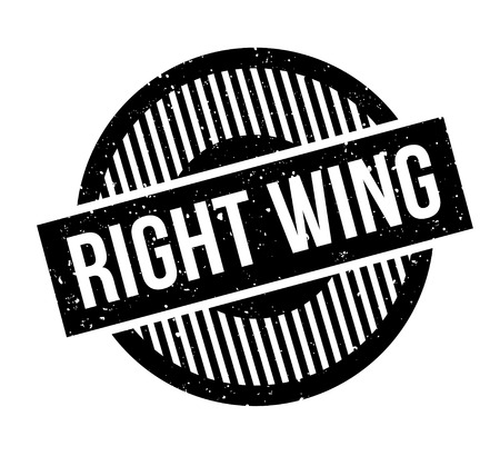 Right Wing rubber stamp. Grunge design with dust scratches. Effects can be easily removed for a clean, crisp look. Color is easily changed. Vectores