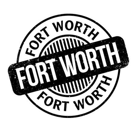 Sello de goma de Fort Worth. Diseño de grunge con arañazos de polvo. Los efectos se pueden eliminar fácilmente para una apariencia limpia y nítida. El color se cambia fácilmente. Ilustración de vector