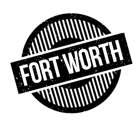 Fort Worth rubber stamp. Grunge design with dust scratches. Effects can be easily removed for a clean, crisp look. Color is easily changed. Foto de archivo - 95673013