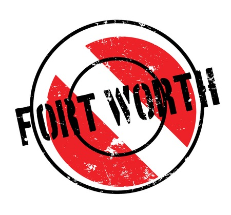 Fort Worth rubber stamp. Grunge design with dust scratches. Effects can be easily removed for a clean, crisp look. Color is easily changed. Foto de archivo - 95673046