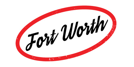 Fort Worth rubber stamp. Grunge design with dust scratches. Effects can be easily removed for a clean, crisp look. Color is easily changed. Foto de archivo - 95673086